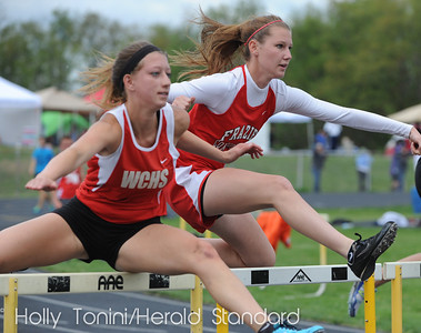 Waynesburg Central's Michelle Cesa and Frazier's Lauren Timko both qualified for WIPALS in hurdles